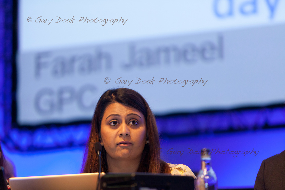 Farah Jameel<br /> General Practitioners Committee.<br /> BMA LMC's Conference<br /> EICC, Edinburgh<br /> <br /> 18th May 2017<br /> <br /> Picture by Gary Doak