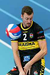26-10-2019 NED: Talentteam Papendal - Draisma Dynamo, Ede<br /> Round 4 of Eredivisie volleyball - Jeroen Rauwerink #2 of Dynamo