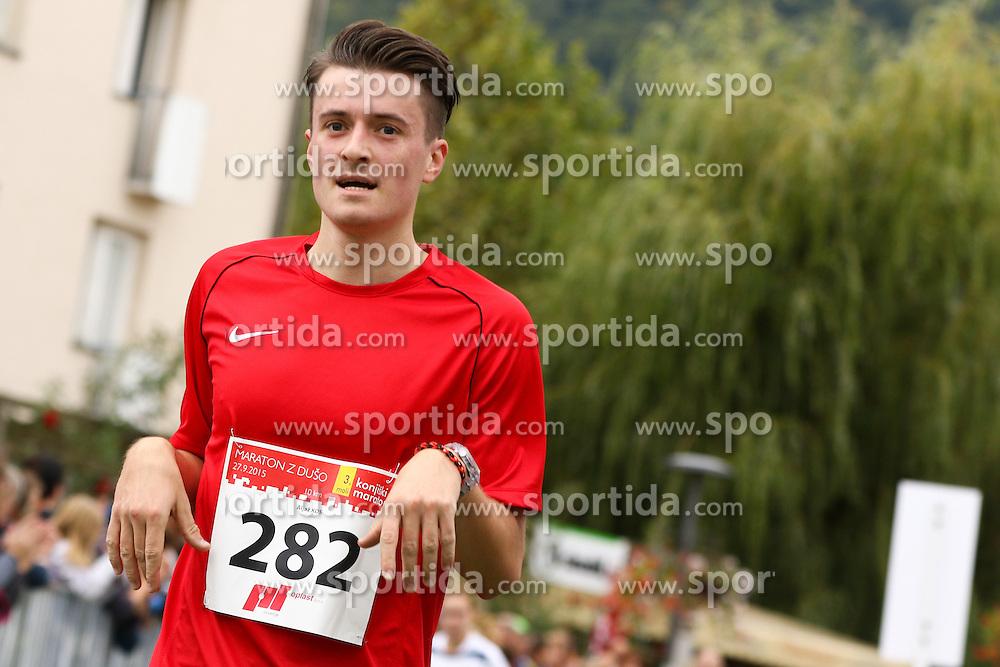 Aljaz Kos competes during 3. Konjiski maraton / 3rd Marathon of Slovenske Konjice, on September 27, 2015 in Slovenske Konjice, Slovenia. Photo by Urban Urbanc / Sportida
