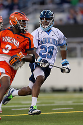 10 April 2010: North Carolina Tar Heels defenseman Milton Lyles (29) during a 7-5 loss to the Virginia Cavaliers at the New Meadowlands Stadium in the Meadowlands, NJ.