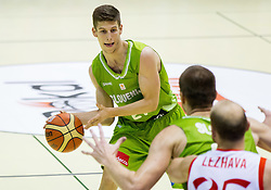 Aleksej Nikolic of Slovenia during friendly basketball match between National teams of Slovenia and Georgia in day 2 of Adecco Cup 2014, on July 25, 2014 in Dvorana OS 1, Murska Sobota, Slovenia. Photo by Vid Ponikvar / Sportida.com