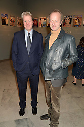Left to right, EARL SPENCER and JOHNNIE SHAND KYDD at the Alexandra Shulman and Leon Max hosted opening of Vogue 100: A Century of Style at The National Portrait Gallery, London on 9th February 2016.