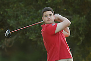 CAPE TOWN, SOUTH AFRICA - Wednesday 8 March 2016, Maximilian Schmitt tees off on the 2nd during the 1st Round of the Curro SA Juniors International at the Durbanville Golf Club. <br /> Photo by Shaun Roy/ImageSA