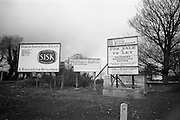 26/03/1966<br /> 03/26/1966<br /> 26 March 1966<br /> Lyon Group Industrial Estate at Glasnevin, Dublin. A View of the SISK and Lyon Group signage at the estate advertising its occupants and vacancies.