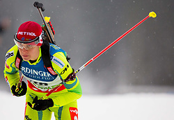 GREGORIN Teja of Slovenia competes during Women 10 km Pursuit competition of the e.on IBU Biathlon World Cup on Thursday, December 15, 2012 in Pokljuka, Slovenia. The third e.on IBU World Cup stage is taking place in Rudno polje - Pokljuka, Slovenia until Sunday December 16, 2012. (Photo By Vid Ponikvar / Sportida.com)