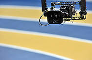 CAMERA ON THE TRACK DURING DAY 1 THE 13TH IAAF WORLD INDOOR CHAMPIONSHIPS IN ATHLETICS DOHA 2010 AT ASPIRE DOME...DOHA , QATAR , MARCH 12, 2010..( PHOTO BY ADAM NURKIEWICZ / MEDIASPORT )..PICTURE ALSO AVAIBLE IN RAW OR TIFF FORMAT ON SPECIAL REQUEST.