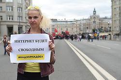 August 26, 2017 - Moscow, Russia - 26 August 2017. Rally for freedom of the Internet in Moscow. Photo: Anton Belitsky (Credit Image: © Russian Look via ZUMA Wire)