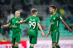 Tomislav Tomic, Asmir Suljic, Mario Jurcevic during football match between NK Olimpija Ljubljana and Aluminij in Round #9 of Prva liga Telekom Slovenije 2018/19, on September 23, 2018 in Stozice Stadium, Ljubljana, Slovenia. Photo by Morgan Kristan