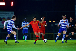 HIGH WYCOMBE, ENGLAND - Monday, March 6, 2017: Liverpool's Trent Alexander-Arnold in action against Reading during the FA Premier League 2 Division 1 Under-23 match at Adams Park Stadium. (Pic by David Rawcliffe/Propaganda)