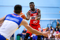 Daniel Edozie of Bristol Flyers - Rogan/JMP - 13/10/2017 - BASKETBALL - SGS Wise Arena - Bristol, England. - Bristol Flyers v Cheshire Pheonix - BBL Cup.