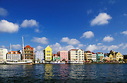 Punda waterfront shops, restaurants, and buildings; Willemstad, Curaçao, Netherlands Antilles.