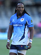 Akona Ndungane of the Blue Bulls during the Sharks XV versus The Blue Bulls match held prior to the Super15 match between The Mr Price Sharks and The Blues held at Mr Price Kings Park Stadium in Durban on the 26th February 2011..Photo By:  Ron Gaunt/SPORTZPICS