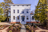 Greek Revival mansion was built for whaling merchant Charles T. Dering ca. 1835. Hampton St, Sag Harbor, NY