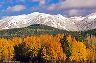 First snow of the season on Big Mountain in autumn in Whitefish, Montana