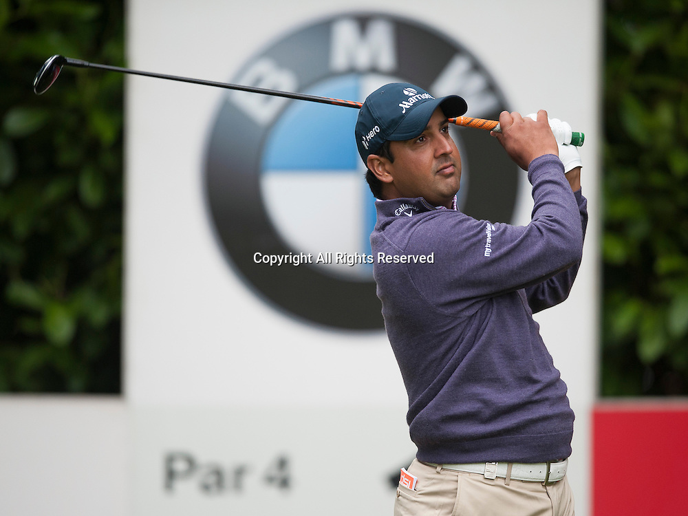 23.05.2014. Wentworth, England. Shiv KAPUR [IND] during the second round of the 2014 BMW PGA Championship from The West Course Wentworth Golf Club
