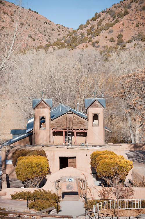 Rural church in Chimayo New Mexico