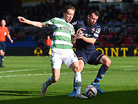 18/10/14 SCOTTISH PREMIERSHIP<br /> ROSS COUNTY v CELTIC<br /> GLOBAL ENERGY STADIUM - DINGWALL<br /> Celtic's Stefan Johansen (left) is tackled by Paul Quinn