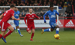 Siriki Dembele of Peterborough United in action against Accrington Stanley - Mandatory by-line: Joe Dent/JMP - 29/12/2018 - FOOTBALL - Wham Stadium - Accrington, England - Accrington Stanley v Peterborough United - Sky Bet League One