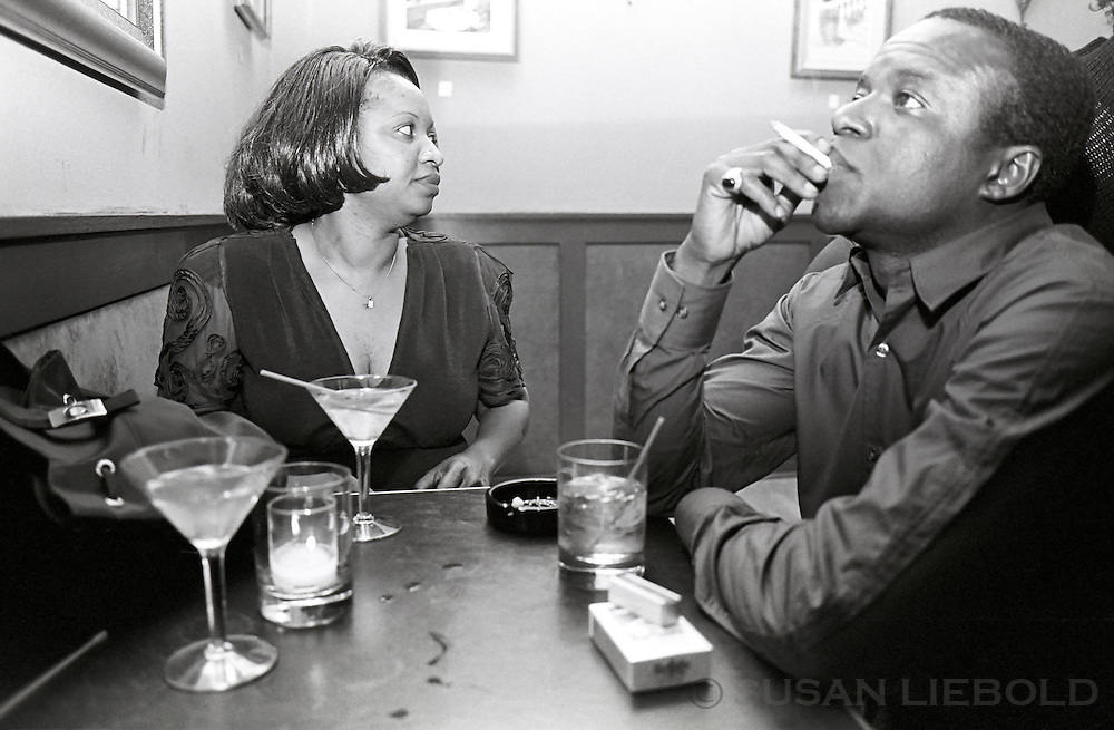 Mai and Baba having a drink in Manhattan.
