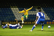 Gillingham - Tuesday October 6th, 2009:   Norwich's Jamie Cureton has an air shot during the Johnstones Paint Trophy R2S match at the KRBS Priestfield, Gillingham, Kent. (Pic by Paul Chesterton/Focus Images)