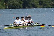Lucerne. Switzerland, GER M4-  	Toni SEIFER T (b) , Felix WIMBERGER (2) , Malte JAKSCHIK (3) , Max PLANER (s).  Rotsee Lake.  14:34:21  Saturday  13/07/2013  [Mandatory Credit, Peter Spurrier/ Intersport Images]
