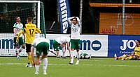 Fotball ,Post-nord ligaen ,  <br /> 10.09.17<br /> Nammo Stadion<br /> Raufoss v HamKam 2-0<br /> Foto : Dagfinn Limoseth , Digitalsport<br /> Ryan Doghman , Raufoss sittende,John Anders Rise og Markus Solbakken , HamKam depper