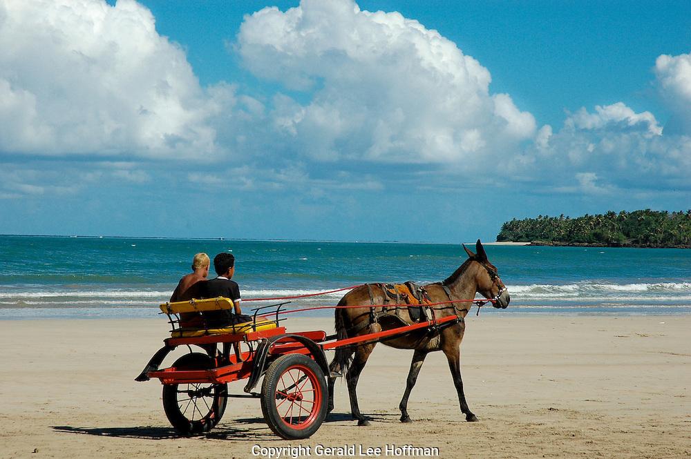 Lazy afternoon on the beach Boipeba, Bahia Brazil.