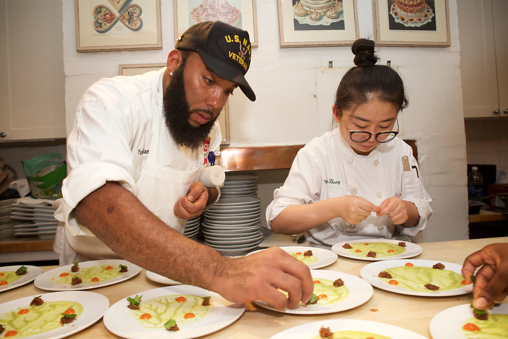 New York, NY - October 7, 2016: The James Beard Foundation celebrates New York African Restaurant Week with an 'Odyssey Across Africa,' a meal presented by Chefs Pierre Thiam, Nadine Nelson, Victor Bongo, Selassie Atadika and Charmain Sithappah. <br /> <br /> CREDIT: Clay Williams for The James Beard Foundation.<br /> <br /> © Clay Williams / claywilliamsphoto.com