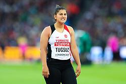 London, August 08 2017 . Eda Tugsuz, Turkey, in the women's javelin final on day five of the IAAF London 2017 world Championships at the London Stadium. © Paul Davey.