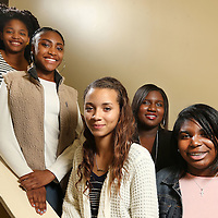 Adam Robison | BUY AT PHOTOS.DJOURNAL.COM<br /> Boys and Girls Club of North Mississippi Youth of the Year competitors.<br /> From Top: Teanna Holmes, of Tupelo, Kareah Freeman, of Tupelo, Aysia Boyles, of Ripley, Jayla Price, of Oxford.<br /> In Back: Takeya Dean, of New Albany.