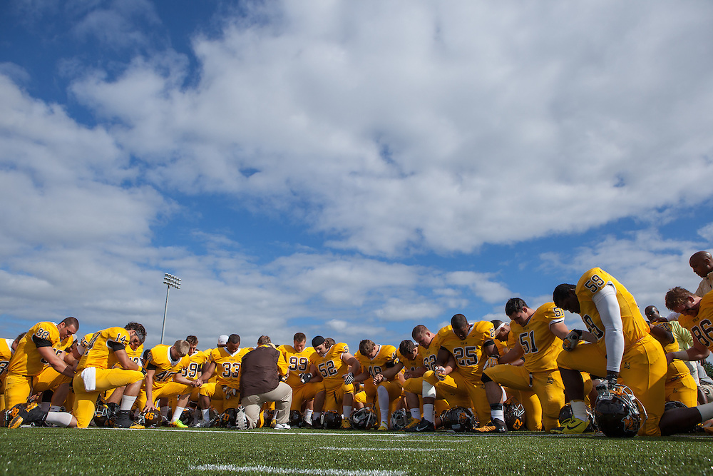Rowan University Football vs Framingham State University at Richard Wacker Stadium in Glassboro, NJ on Saturday September 14, 2013. (photo / Mat Boyle)