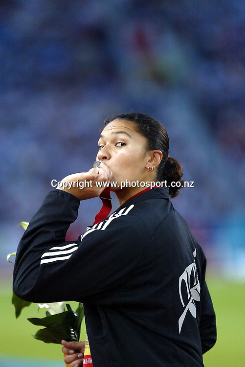 28 July 2002, City of Manchester Stadium,Sport city Commonwealth Games, Manchester, England<br />New Zealand  shot put silver medalist Valerie Adams<br />Pic: Andrew Cornaga/Photosport