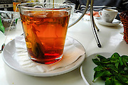 A cup of tea - hot water with a tea bag