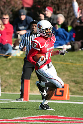 06 November 2010:  Tyrone Walker carries the ball for a touchdown during a game between the Penguins of Youngstown State and the Redbirds of Illinois State at Hancock Stadium on the campus of Illinois State University in Normal Illinois.