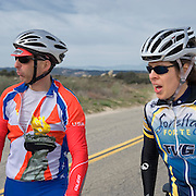 Ivan Meadors and Sarah Tisdale. United Finance (formerly Finnegan's Toys / Discover Chiropractic) Cycling Team winter training camp, January 30 to February 5, 2010; Palm Springs, California.  Emerald Velo Cycling Club (EVCC).