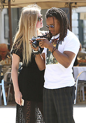 EXCLUSIVE: Footballer Edgar Davids with his girlfriend in Venice, Italy. 22 Apr 2018 Pictured: Edgar Davids. Photo credit: AMA / MEGA TheMegaAgency.com +1 888 505 6342