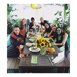"Zoe Saldana releases a photo on Instagram with the following caption: ""Superhero\u2019s who lunch. \n@avengers \n@marvelstudios"". Photo Credit: Instagram *** No USA Distribution *** For Editorial Use Only *** Not to be Published in Books or Photo Books ***  Please note: Fees charged by the agency are for the agency's services only, and do not, nor are they intended to, convey to the user any ownership of Copyright or License in the material. The agency does not claim any ownership including but not limited to Copyright or License in the attached material. By publishing this material you expressly agree to indemnify and to hold the agency and its directors, shareholders and employees harmless from any loss, claims, damages, demands, expenses (including legal fees), or any causes of action or allegation against the agency arising out of or connected in any way with publication of the material."