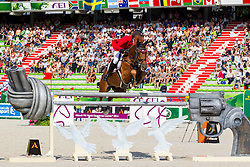 Andreas Schou, (DEN), Lenard Der Kleine - World Champions, - Second Round Team Competition - Alltech FEI World Equestrian Games™ 2014 - Normandy, France.<br /> © Hippo Foto Team - Leanjo De Koster<br /> 25/06/14
