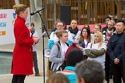 Stop the Cuts, Student Demonstration, outside The Scottish Parliament, Hollyrood, Edinburgh, Speaker: Louise O'Hara, EIS (The Educational Institute of Scotland) 23rd March 2016<br /> (c) Brian Anderson | Edinburgh Elite media