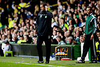 01/10/15 UEFA EUROPA LEAGUE GROUP STAGE<br /> CELTIC V FENERBAHCE<br /> CELTIC PARK - GLASGOW<br /> Celtic manager Ronny Deila in the dugout.