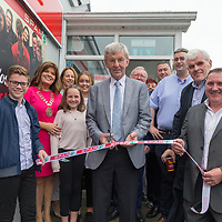 Special Guest and previous owner Jim O'Dowd cuts the ribbon at the opening of Gerraty's Spar in Turnpike