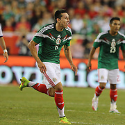 Héctor Herrera, Mexico, in action during the Portugal V Mexico International Friendly match in preparation for the 2014 FIFA World Cup in Brazil. Gillette Stadium, Boston (Foxborough), Massachusetts, USA. 6th June 2014. Photo Tim Clayton