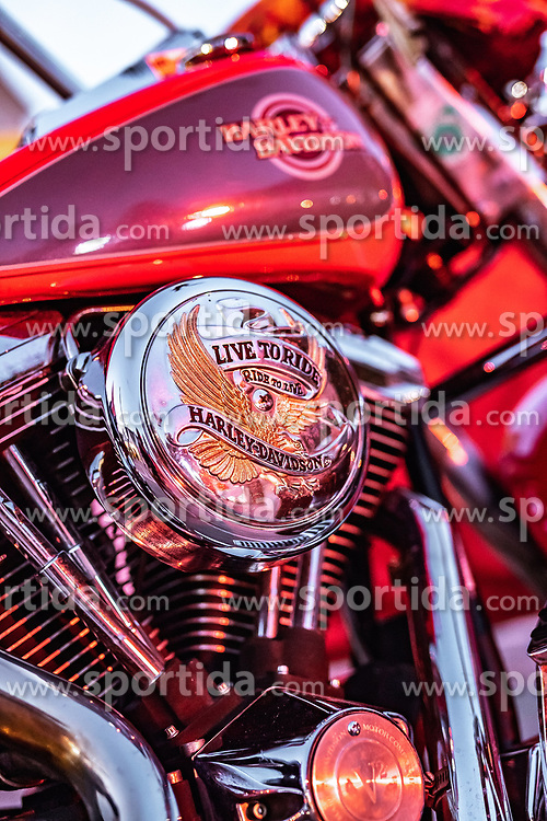 26.06.2019, Schladming, AUT, Rock the Roof 2019, im Bild Harley Davidson Motorrad Detail // Harley Davidson Motorcycle Detail during the Rock the Roof Biker Meeting in Schladming, Austria on 2019/06/26. EXPA Pictures © 2019, PhotoCredit: EXPA/ JFK