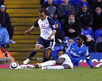 Photo: Dave Linney.<br />Birmingham City v Tottenham Hotspur. The Barclays Premiership. 18/03/2006.Spur Edgar Davids (L) rides the challenge of Mario Melchiot