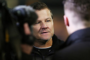Mark Cooper speaks to Sky Sports after the EFL Sky Bet League 2 match between Macclesfield Town and Forest Green Rovers at Moss Rose, Macclesfield, United Kingdom on 25 January 2020.