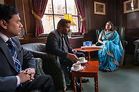 Leicester, UK: Manjula Sood, the Lord Mayor of Leicester, meets with her constituents. In 2008, Sood became the first Asian woman Lord Mayor of a British town. The office is ceremonial, but as Leicester's first citizen and chair of the council, the Lord Mayor is the public face of Britain's most ethnically diverse city