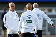Didier Deschamps during the training of the team of France before the FIFA World Cup qualifying football match between Bulgaria and France, on October 2, 2017 in Clairfontaine, France - Photo Benjamin Cremel / ProSportsImages / DPPI