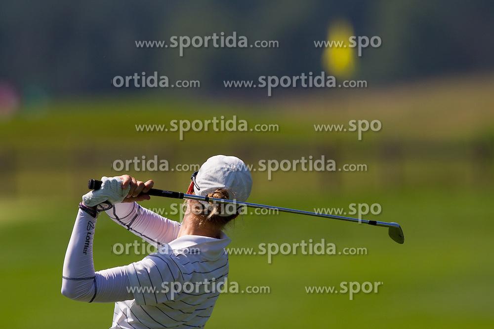 Katja Pogacar of Slovenia during golf competition in day 3 of International European Ladies Amateur Championship 2012, on July 27, 2012 in Smlednik at Ljubljana, Slovenia. (Photo by Grega Valancic / Sportida)