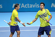 Ivan Dodig and Marcelo Melo during the Mens Doubles Final of the Barclays ATP World Tour Finals, O2 Arena, London, United Kingdom on 16 November 2014 © Pro Sports Images