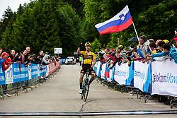 Primoz ROGLIC Celebrates 1st place during Slovenian Road Cyling Championship 2020 on June 21, 2020 in Cerklje na Gorenjskem, Slovenia. Photo by Peter Podobnik / Sportida.